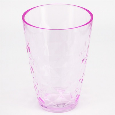 High quality Crystal surface 13oz colored tumblers promotional plastic cups